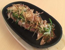 Grilled-Squid-with-green-onionイカ鉄板2