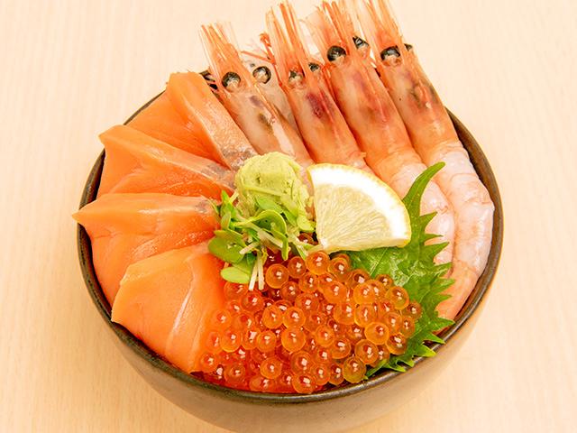 サーモン・甘海老・いくら丼